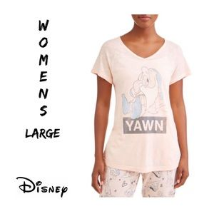 "Disney Sleepy Dwarf ""YAWN"" Top Sz:L NWT"